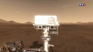 La sonde martienne Curiosity.