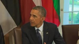 Barack Obama lors d'une intervention sur la Syrie, le 30 août 2013.