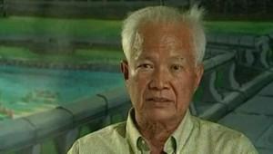 Khieu Samphan, chef d'Etat cambodgien sour les Khmers rouges