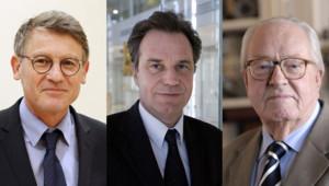 Vincent Peillon, Renaud Muselier et Jean-Marie Le Pen.