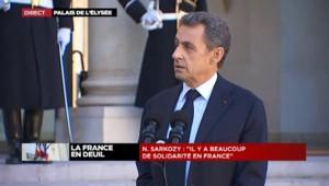 La priorité, c'est que les Français se sentent en sécurité, pour Nicolas Sarkozy