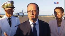 """Le 13 heures du 21 août 2014 : Hollande �a R�ion : """"Je ne pensais pas que la croissance reviendrait d'un bond"""" - 612.8412899627684"""