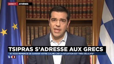 """Crise en Grèce : Tsipras s'engage """"à trouver une solution rapide et immédiate"""""""