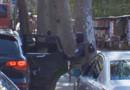 Le convoi transportant Salah Abdeslam dans les rues de Paris.