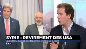 """Syrie : Kerry """"a voulu laisser un message à l'Iran"""" en ouvrant les portes"""