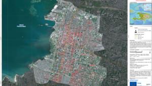 Carte des ravages du séisme à Port-au-Prince établie par le Sertit de Strasbourg