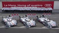 Les trois Audi R18 e-tron quattro avant les 24h du Mans 2013