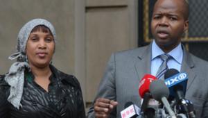 Nafissatou Diallo et son avocat, le 10 décembre 2012