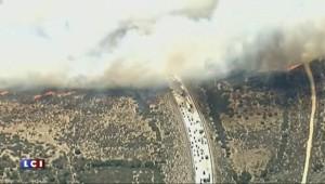 Violent incendie sur une autoroute de Californie : les images du brasier
