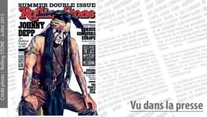 Johnny Depp en couverture de Rolling Stone, juillet 2013.