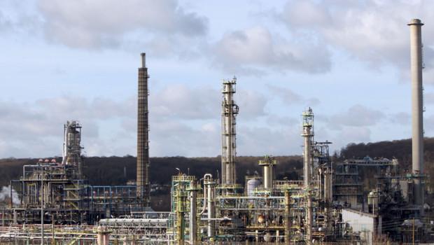 Le site Petroplus de Petit-Couronne, près de Rouen, en janvier 2012.