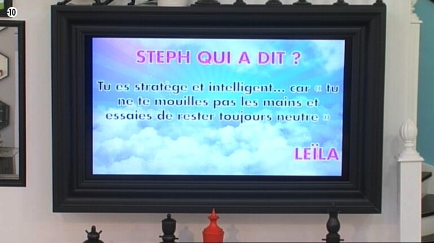 Steph découvre ce que Leila pense de lui. Elle lui reproche sa neutralité.