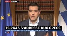 """Crise en Grèce : """"Nous sommes devant une catastrophe"""" reconnaît Tsipras"""