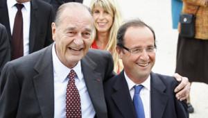 Jacques Chirac et François Hollande en Corrèze, le dimanche 12 juin 2011