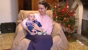 TF1/LCI : Nathalie Gettliffe lors de son retour en famille à l'occasion d'une sortie pour les fêtes de fin d'année