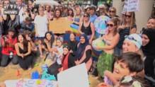 Burkini : à Londres, des femmes manifestent devant l'ambassade de France