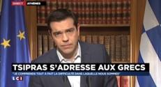 """Crise en Grèce : """"Je ferai tout pour que ces difficultés soient passagères"""" assure Tsipras"""