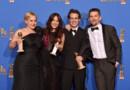 L'équipe du film Boyhood récompensé aux Golden Globes 2015