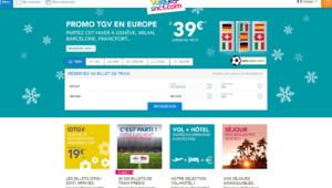Page d'accueil du site voyages-sncf.com