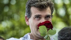Arnaud Montebourg, lors de la fête de la rose à Frangy-en-Bresse en 2012.