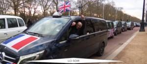 Grande-Bretagne : les taxis français venus soutenir leurs confrères anglais à Londres