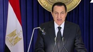 Hosni Moubarak dans son allocution télévisée le 28/01/2011