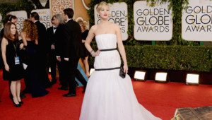 Jennifer Lawrence à la 71e cérémonie des Golden Globes à Los Angeles