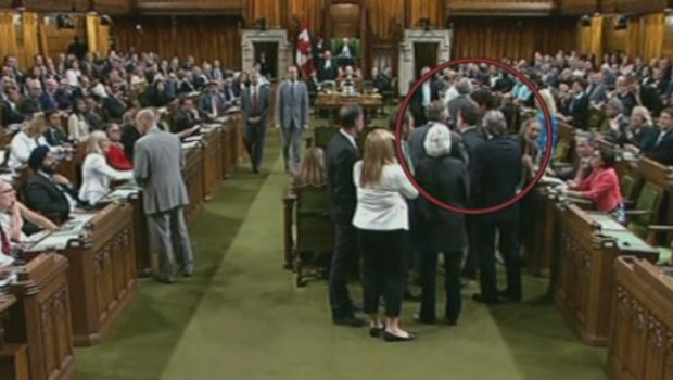 Justin Trudeau Canada Bousculade