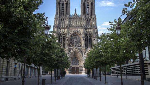 Une vue de la cathédrale de Reims