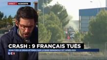 """Crash d'un F-16 en Espagne : """"Il sera difficile de retrouver des preuves"""""""