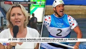 JO de Rio : le club France aux anges après les médailles d'or en équitation et canoë
