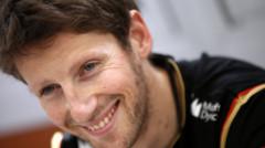 Romain Grosjean (Lotus-Renault) lors du GP F1 d'Espagne le 10 mai 2014