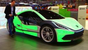 Le concept-car EDAG Light Cocoon exposé au Salon de Genève dans l'émission Automoto du 8 mars 2015