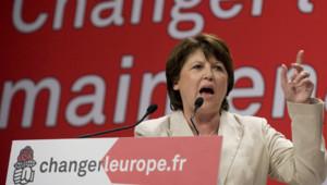 Martine Aubry européennes PS