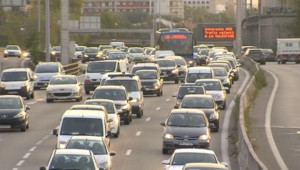 Un embouteillage sur le réseau routier francilien.