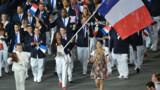 JO-2012 - L'équipe de France olympique sur les Champs-Elysées lundi