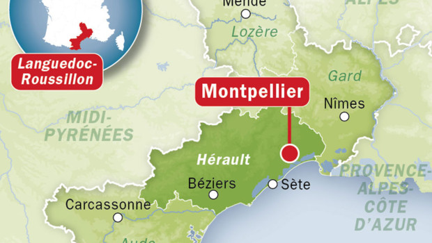 Localisation Montpellier Carte De France | My blog
