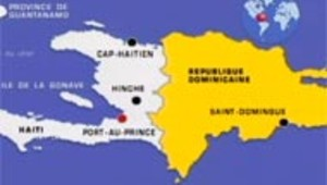 carte Haïti / republique dominiquaine
