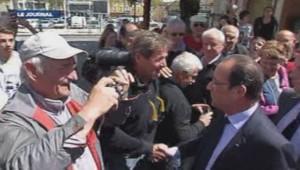 François Hollande à Carmaux le 23 avril 2014