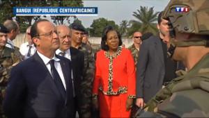 Le 20 heures du 28 février 2014 : Hollande salue les soldats fran�s en Centrafrique - 1073.2239396972657