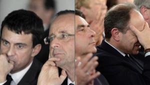 Manuel Valls et François Hollande / François Fillon et Jean-François Copé / Montage MYTF1News
