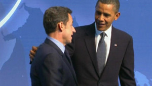 Nicolas Sarkozy et Barack Obama au sommet de Washington (13 avril 2010)