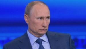 Vladimir Poutine lors d'une session de questions-réponses avec la population russe - avril 2013
