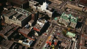 Vue aérienne de Montréal au Canada.