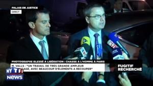 """Tireur à Paris : """"Nous attendons beaucoup de l'appel à témoins"""", dit Valls"""