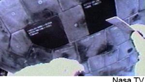 Discovery navette spatiale réparation joints protubérances