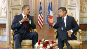La conférence de presse commune entre barack obama et Nicolas sarkozy (6 juin 2009)