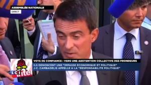 """Valls : """"Nous avons, ces derniers jours, donné un spectacle de division, face à cela il faut tenir"""""""