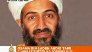 Image accompagnant la diffusion d'un message attribué à ben Laden sur Al-Jazira (24 janvier 2010)