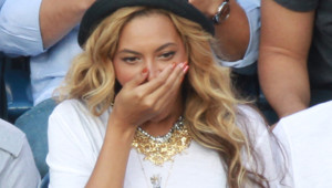 La chanteuse Beyoncé assistant à une finale de l'US Open